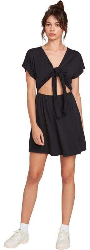 sukienka VOLCOM - Coco Tie Front Dress Black (BLK