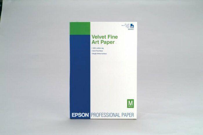 Papier Epson Velvet Fine Art Paper Super A3+ 260g/m2 20 ark C13S041637