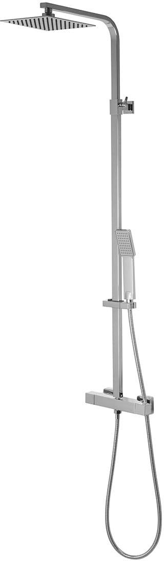 Corsan kolumna prysznicowa termostatyczna regulowana Ango chrom slim CMN018