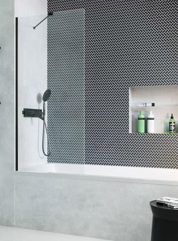 Radaway parawan nawannowy Modo New Black PNJ 70 cm, szkło przejrzyste, wys. 150 cm 10006070-54-01