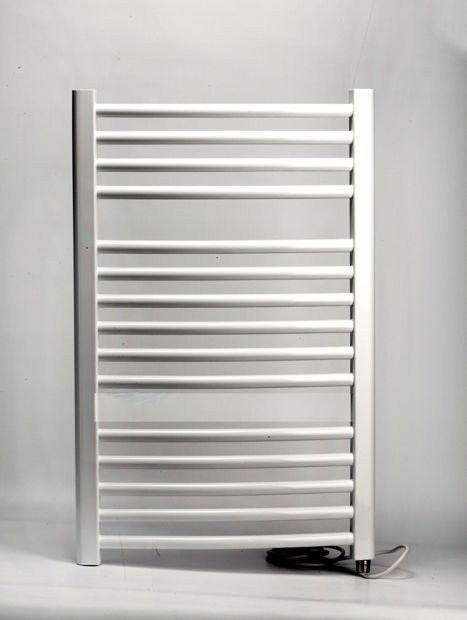 Grzejnik łazienkowy wetherby - elektryczny, wykończenie zaokrąglone, 400x800, biały/ral