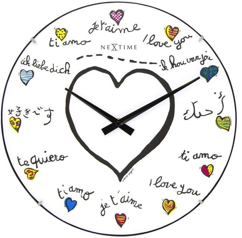 Nextime - zegar ścienny loving you dome