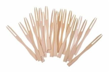 Widelczyki bambusowe 20 sztuk K8544