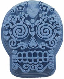 cuticuter Halloween trupia czaszka meksykańskie frytki ciastka, niebieskie, 8 x 7 x 1,5 cm