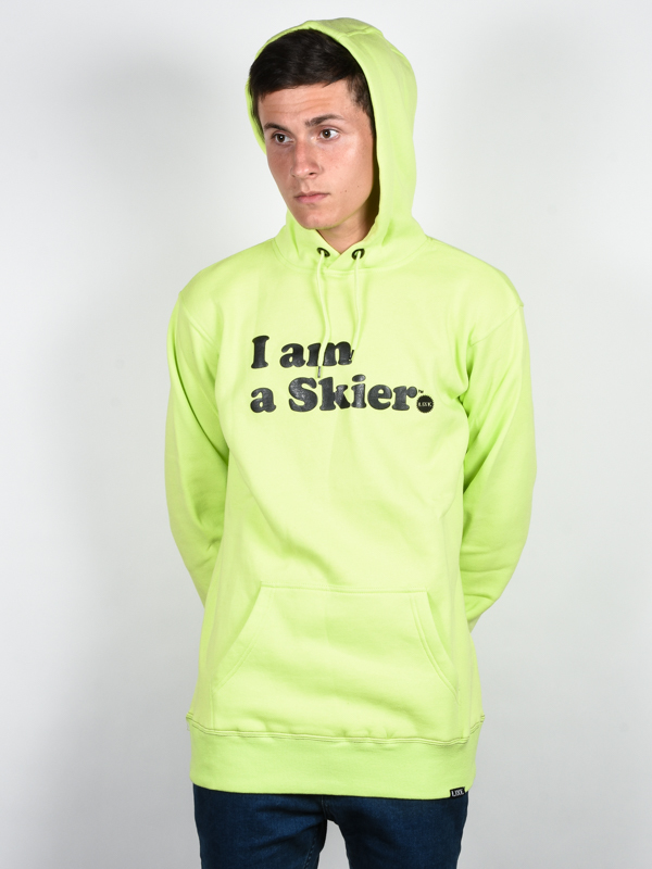 Line I Am A Skier ELECTRIC YELLOW bluza - S