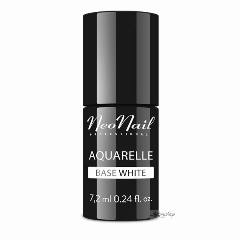 NeoNail - Aquarelle Base - Baza pod Lakier Hybrydowy Aquarelle - 7,2 ml - WHITE - 5485-7