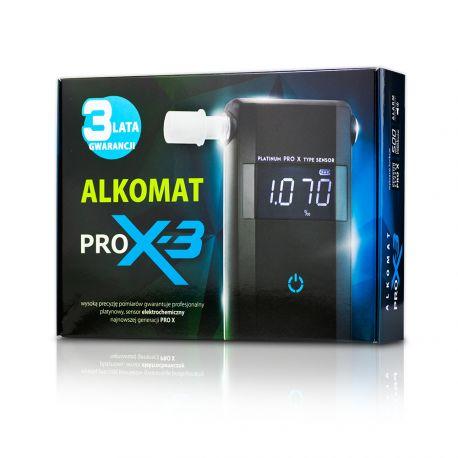 Alkomat PRO-X3, GWARANCJA 3 LATA, 12 miesięcy kalibracji w cenie, 10 ustników gratis