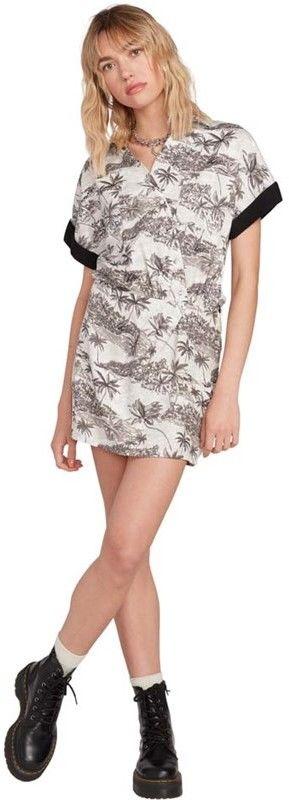 sukienka VOLCOM - Vacay Me Ss Dress Star White (SWH