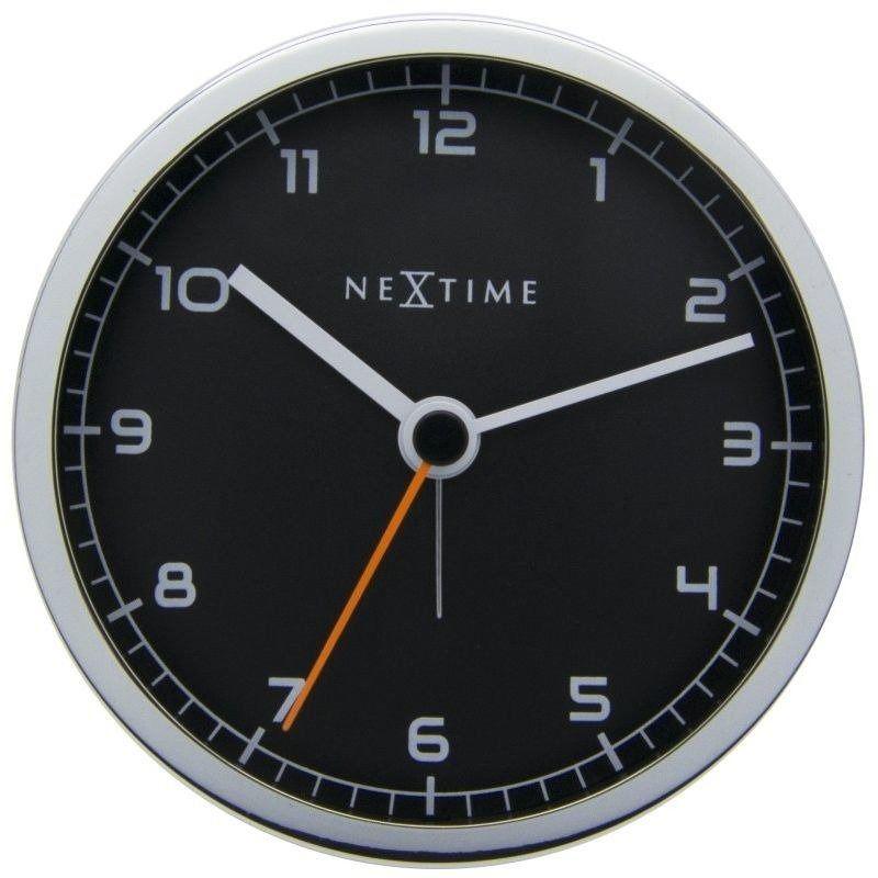 Nextime - zegar stojący company alarm - czarny
