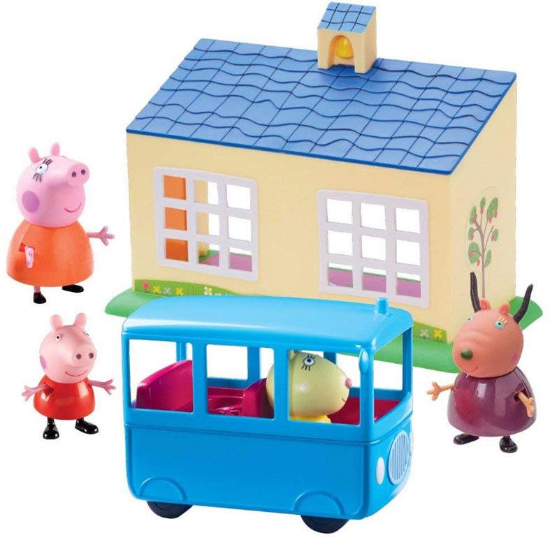 Świnka Peppa - Zestaw szkoła + autobus z figurkami 06593