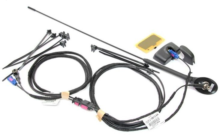 kompletna antena radiowa + antena GPS z przewodami antenowymi