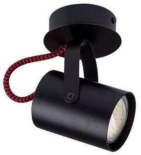 Nowoczesna lampa sufitowa plafon KAMERA 1 czarny/czerwony 32613