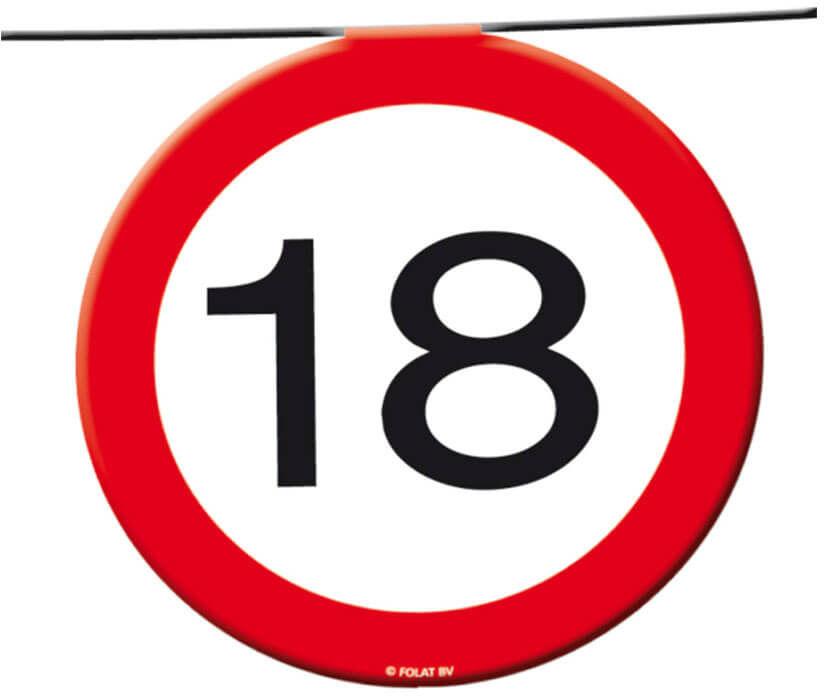 Baner flagi Znak zakazu 18tka - 12 m - 1 szt.