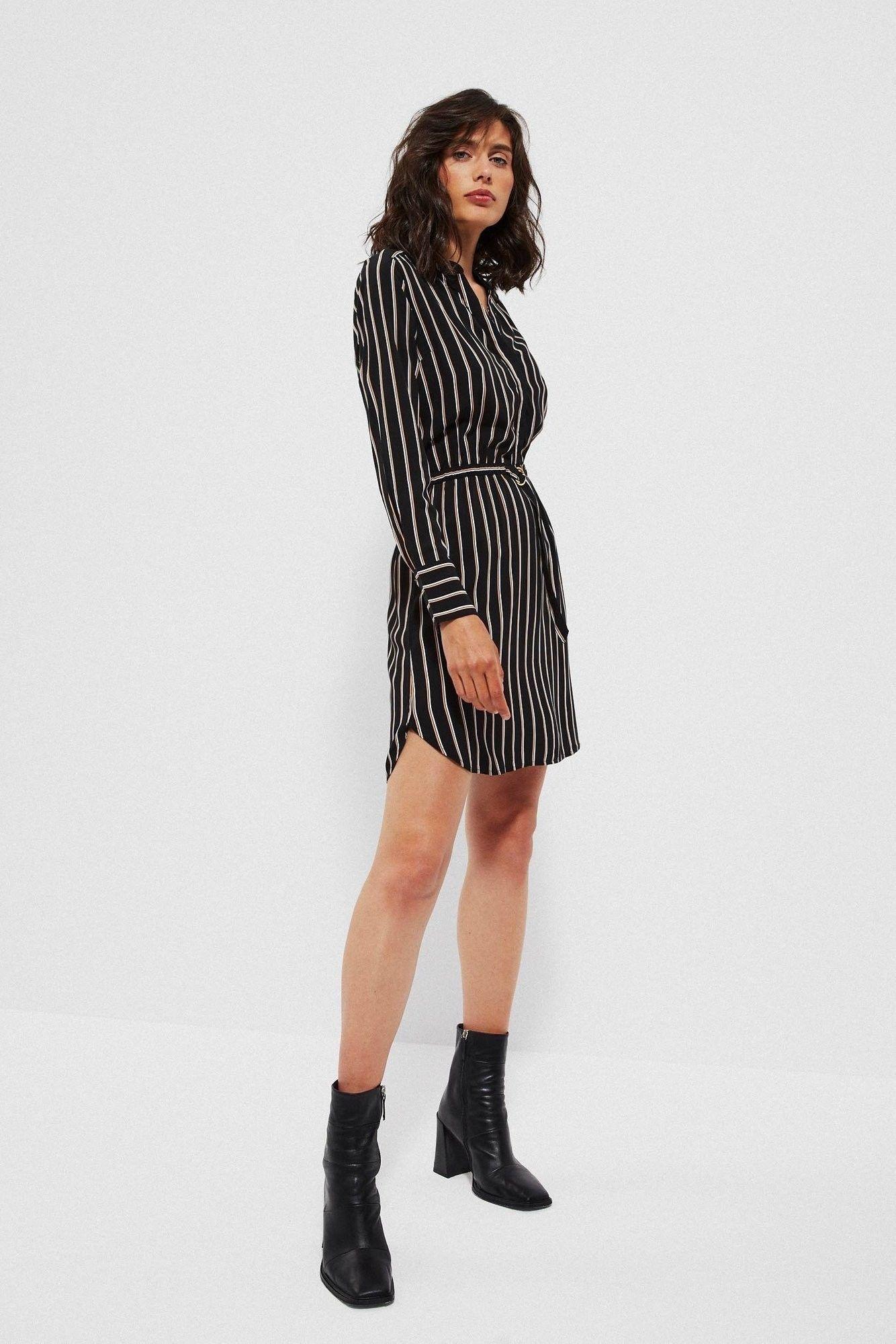 Sukienka z wiskozy w paski