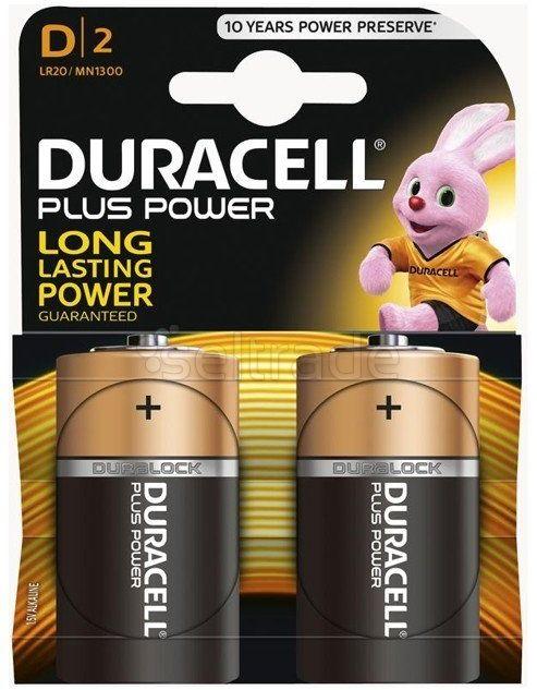 Bateria alkaliczna Duracell LR20 D 2 sztuki