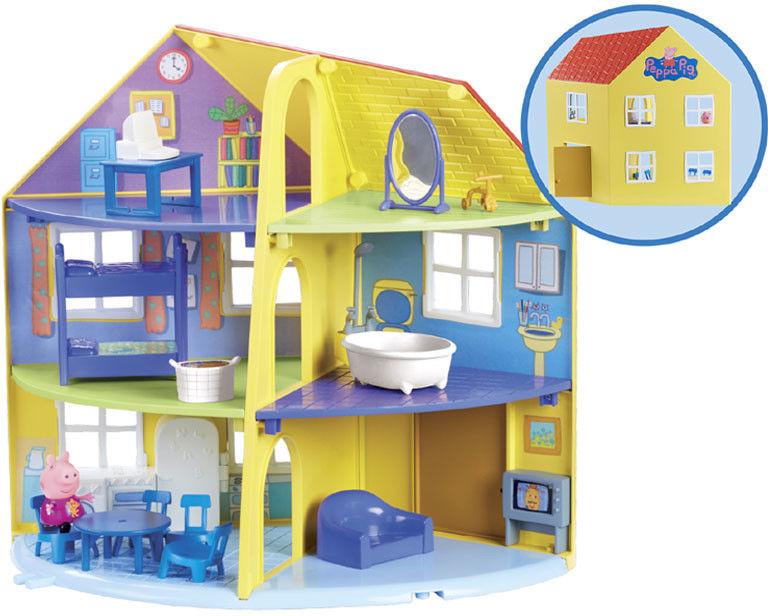 Świnka Peppa - Dom rodzinny z figurką Peppy i akcesoriami 06384