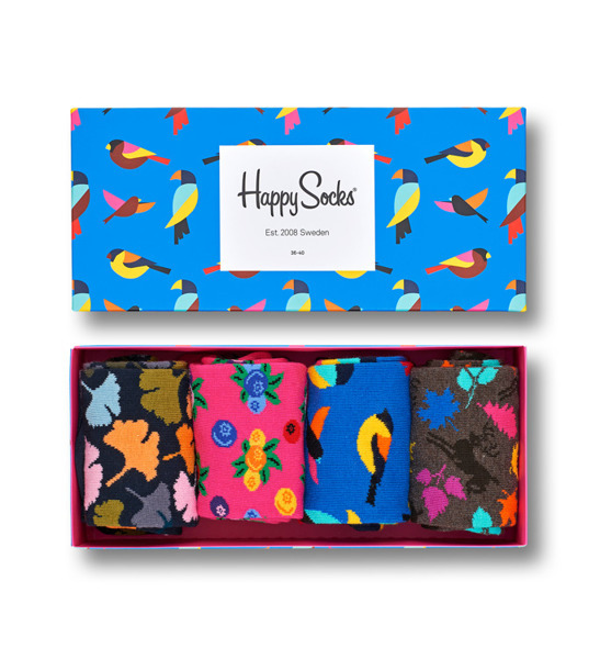 Kolorowe skarpetki Happy Socks - Zestaw Forest, 4 pary XFOR09-8000