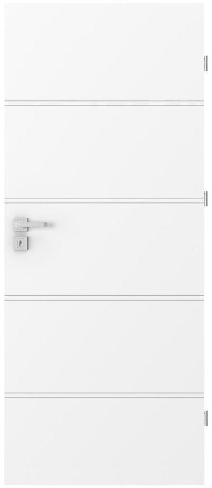 Skrzydło drzwiowe pełne Trim Białe 80 Prawe Porta