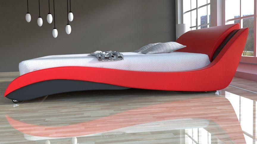 Łóżko do sypialni Stilo-2 Lux tkanina 140x200