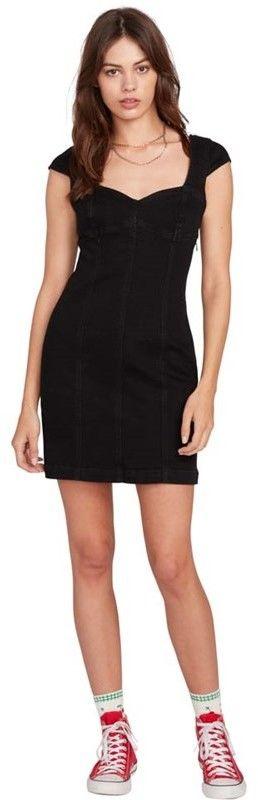 sukienka VOLCOM - Im Not Sweet Dress Premium Wash Black (PBK