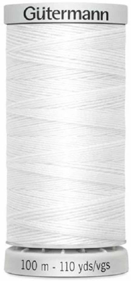 Gütermann nici do szycia, bardzo mocne, poliester, 100 m, kolor biały