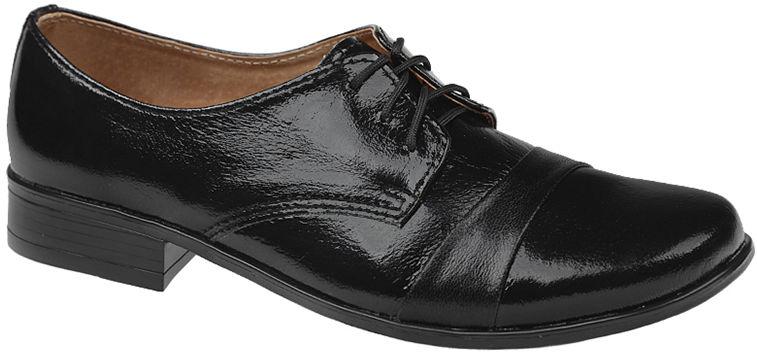 Półbuty buty komunijne wizytowe Lakierki KMK 106 Czarne eleganckie - Czarny