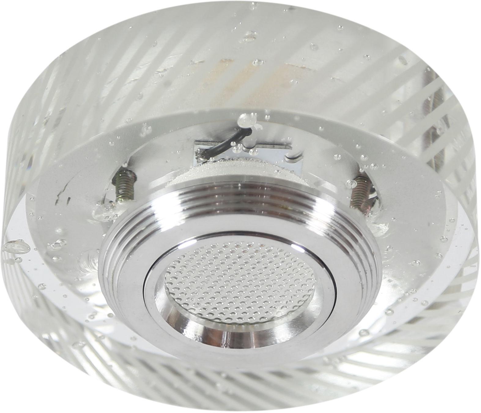 Candellux SS-33 AL/TR 3W LED COB 230V oprawa do wbudowania okrągła szkło transparentne 10cm