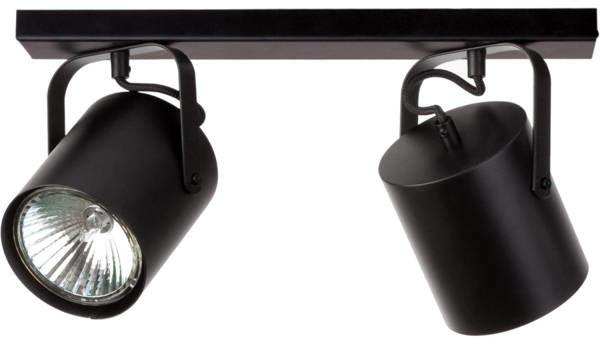 Nowoczesna lampa sufitowa FLESZ E27 2 PLAFON czarny 31071