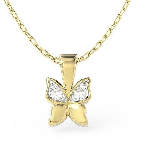 Wisiorek w kształcie motyla z żółtego złota z cyrkoniami bpw-88z-r-c