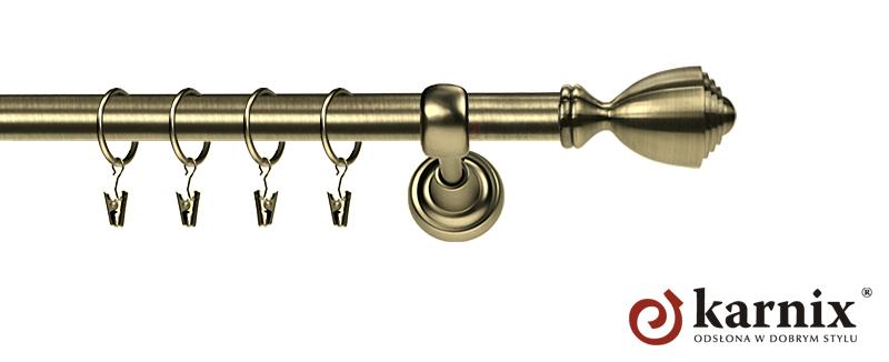 Karnisze Metalowe Rzymskie pojedynczy 19mm Avanti antyk mosiądz