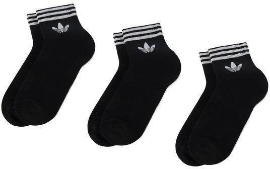 adidas Zestaw 3 par niskich skarpet unisex Tref Ank Sck Hc EE1151 Czarny