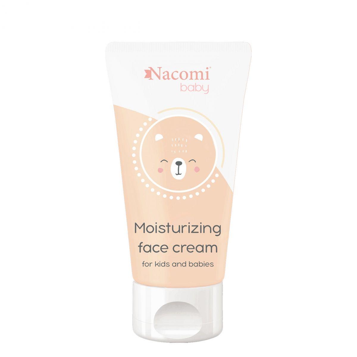 Nawilżający krem do twarzy dla dzieci - 50ml - Nacomi