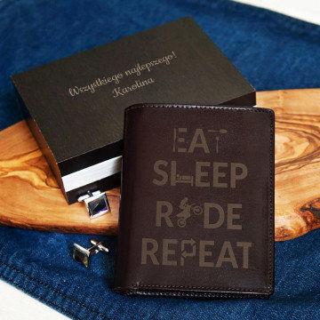 Eat, sleep, ride - Portfel skórzany