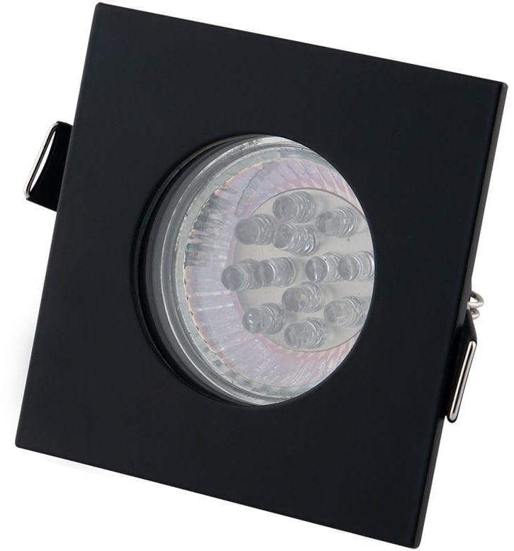Oprawa wpuszczana SQUARE H0093 MAXlight kwadratowe oczko stropowe czarne
