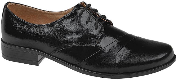 Półbuty buty komunijne wizytowe Lakierki KMK 83 Czarne eleganckie - Czarny