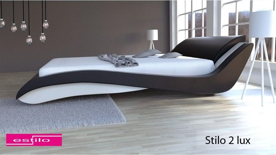 Łóżko do sypialni Stilo-2 Lux tkanina 180x200