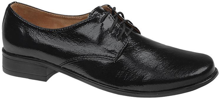 Półbuty buty komunijne wizytowe Lakierki KMK 99 Czarne eleganckie - Czarny