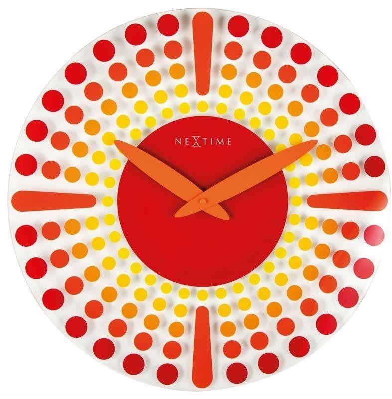 Nextime - zegar ścienny dreamtime - czerwony