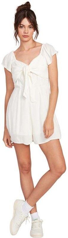 sukienka VOLCOM - Coco Ss Romper White (WHT)