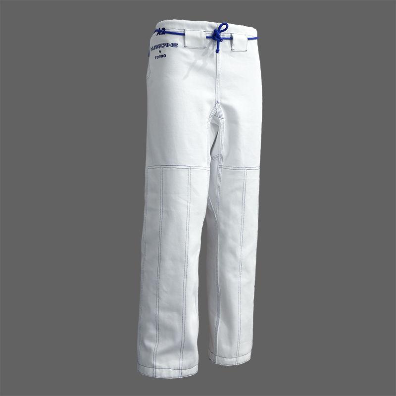 spodnie do BJJ / ju-jitsu HURRICANE, białe, 14oz (9 rozmiarów)