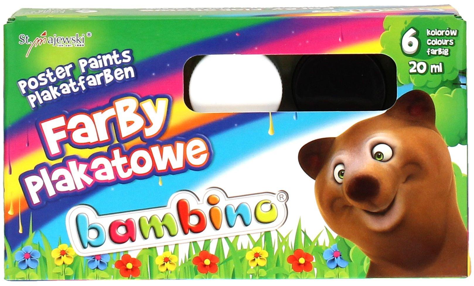 Farby plakatowe 6kol Bambino