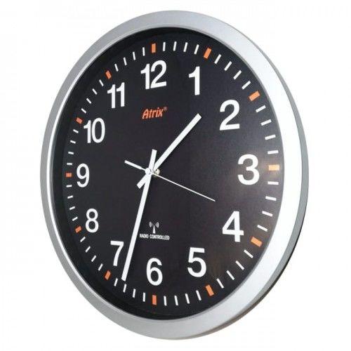 Zegar srebrny 350mm sterowany radiowo #2