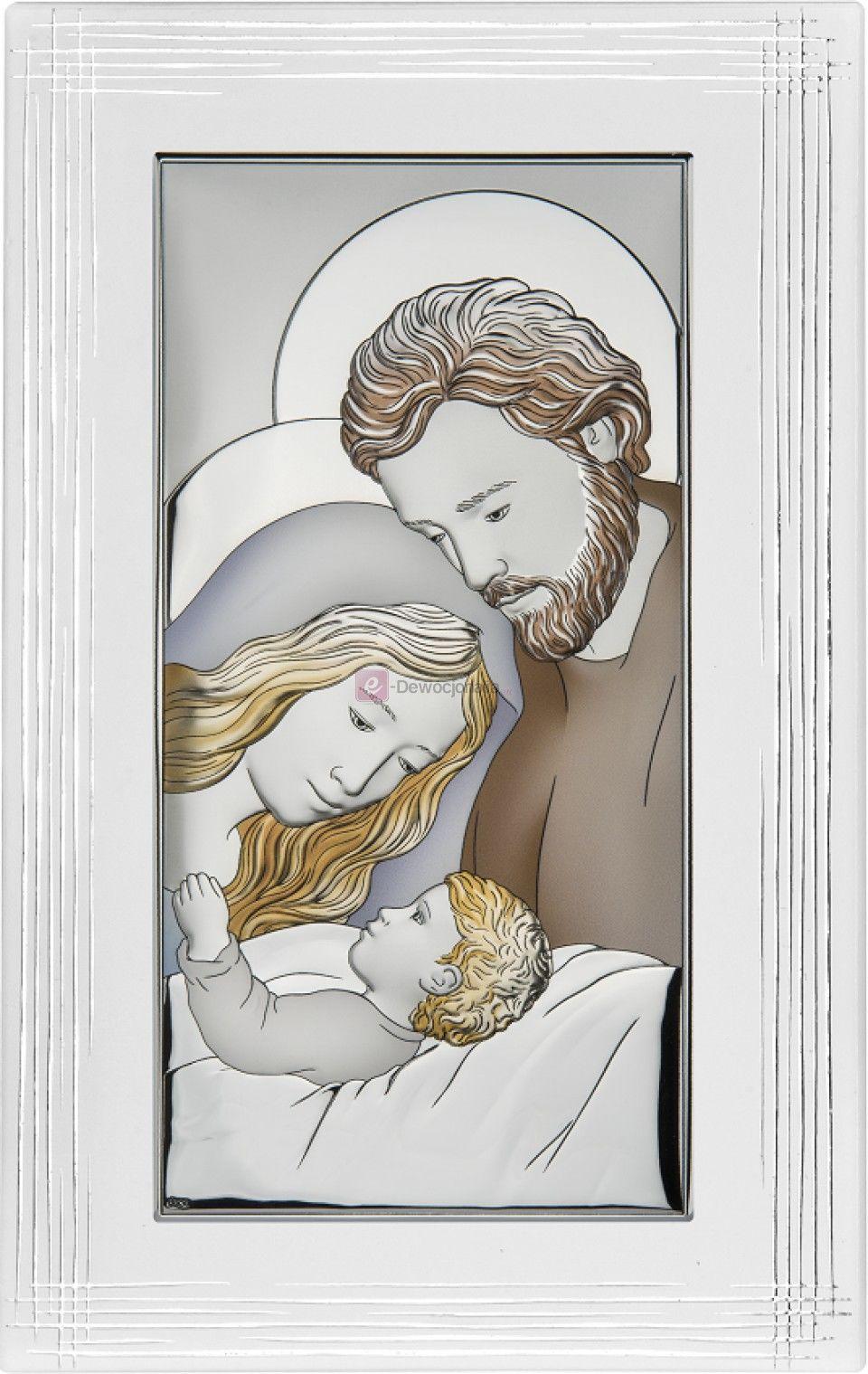 Obrazek srebrny - Święta Rodzina [różne rozmiary]