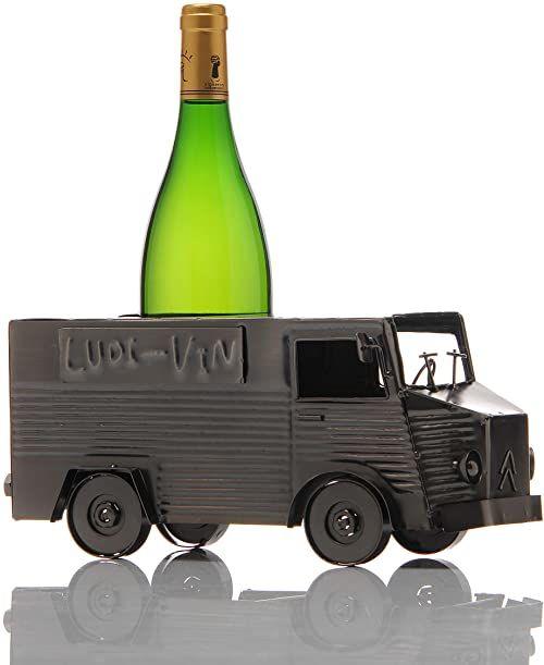 ludi-vin 5060388471194 metalowy uchwyt na butelki 31,5 x 16,5 x 14,3 cm