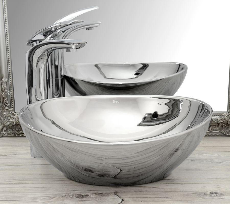 Umywalka nablatowa 40 Sofia Silver/Silver Rea (REA-U0852)
