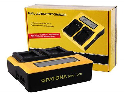 Ładowarka Patona podwójna Dual LCD USB do Sony NP-FW50