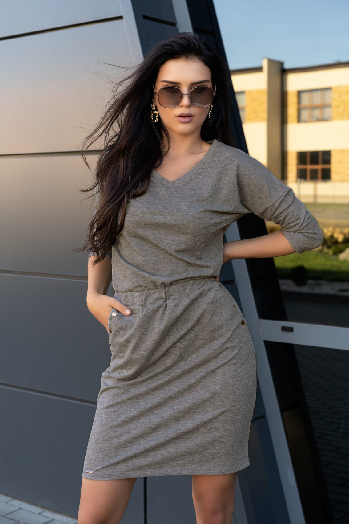 Ponitama Grey D14 sukienka