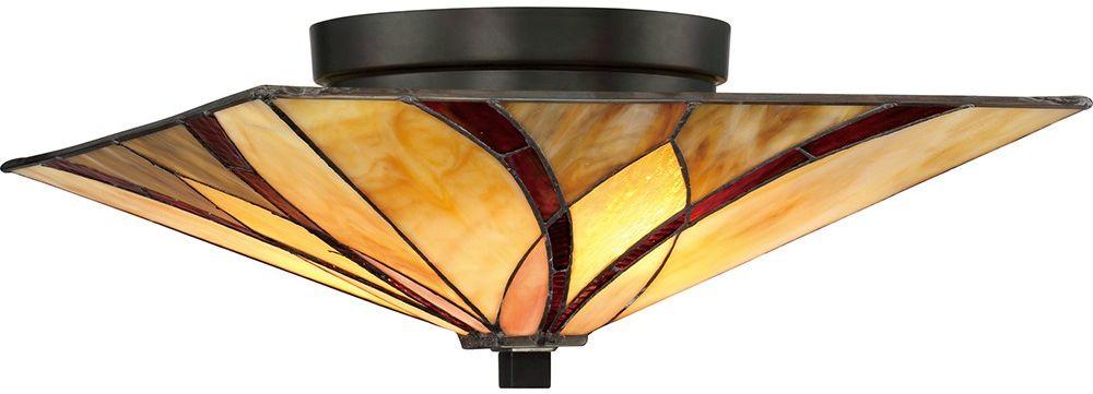 Asheville plafon witrażowy tiffany QZ-ASHEVILLE-F - Quoizel Do -17% rabatu w koszyku i darmowa dostawa od 299zł !