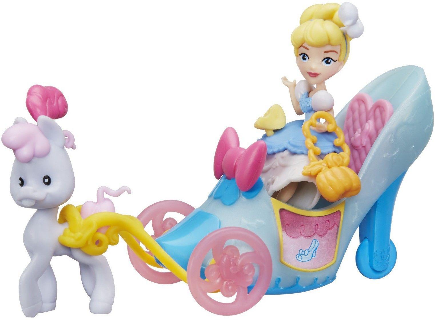 Hasbro Disney Princess - Mini laleczka Kopciuszek i pantofelkowy powóz C0535