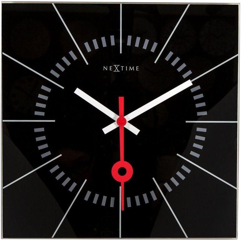 Nextime - zegar ścienny stazione - czarny